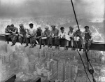 Lunchtime atop a skycrapper - (1) Charles C Ebbets