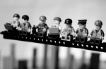Lunchtime atop a skycrapper - (2) Lego