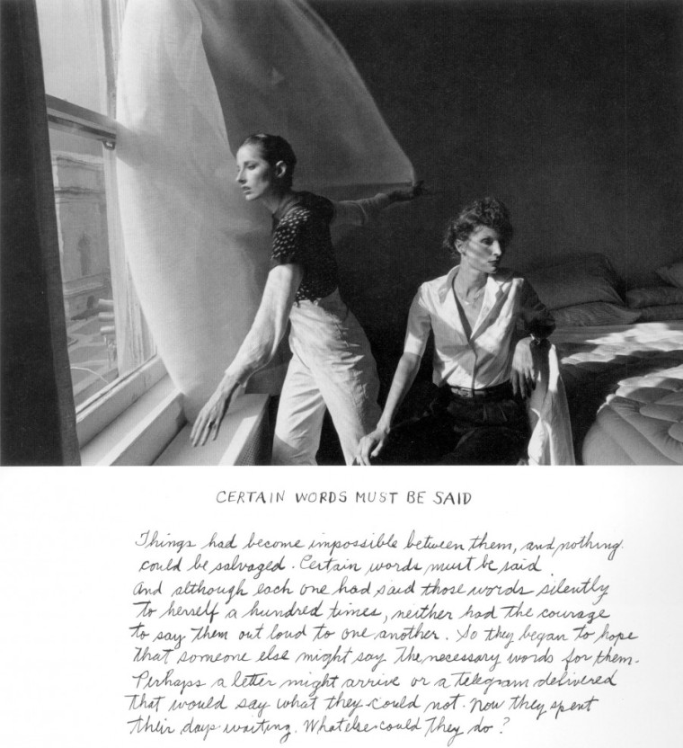 Duane Michals - Certain words must be said