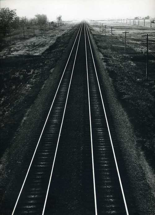 Andreas Feininger - Railroad tracks - 1952