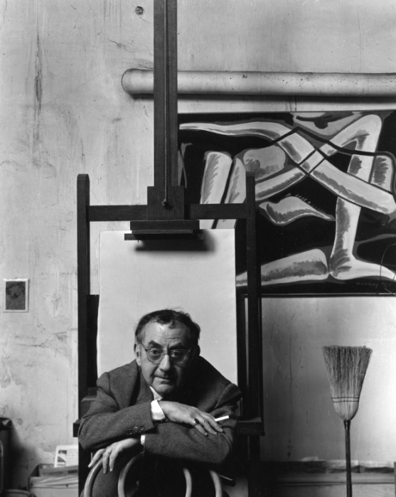 arnold-newman-artist-photographer-man-ray-paris-france-1948