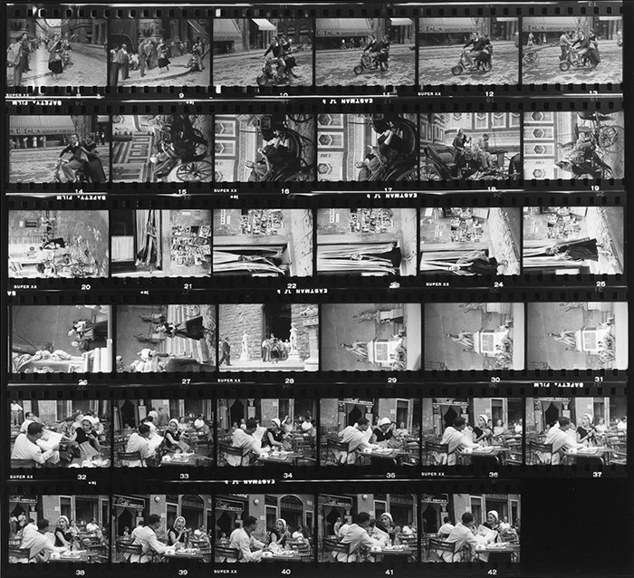 Ruth Orkin - contact sheet