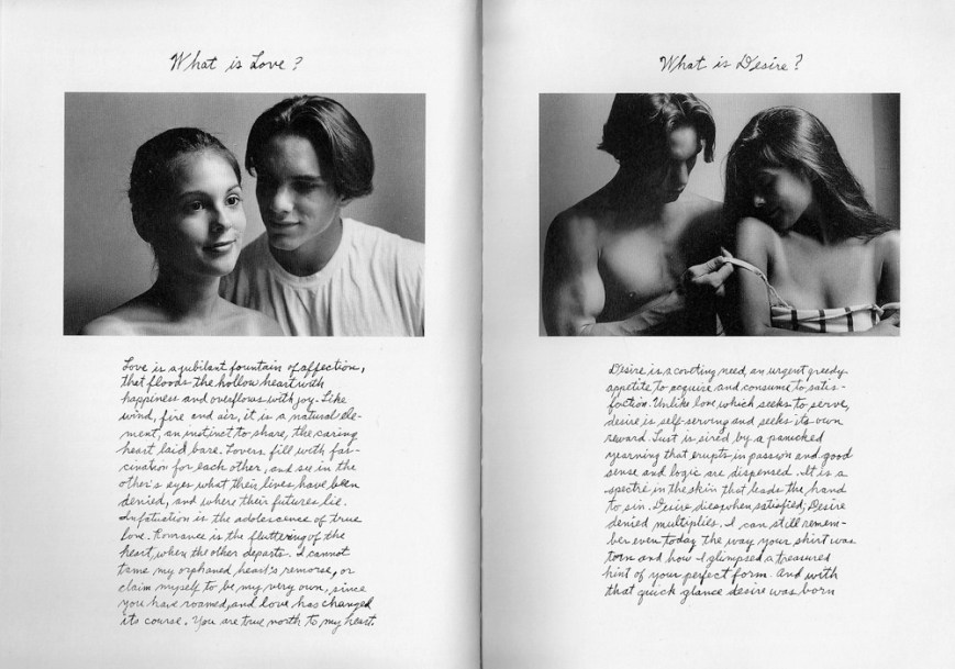 Duane Michals - What is love What is desire