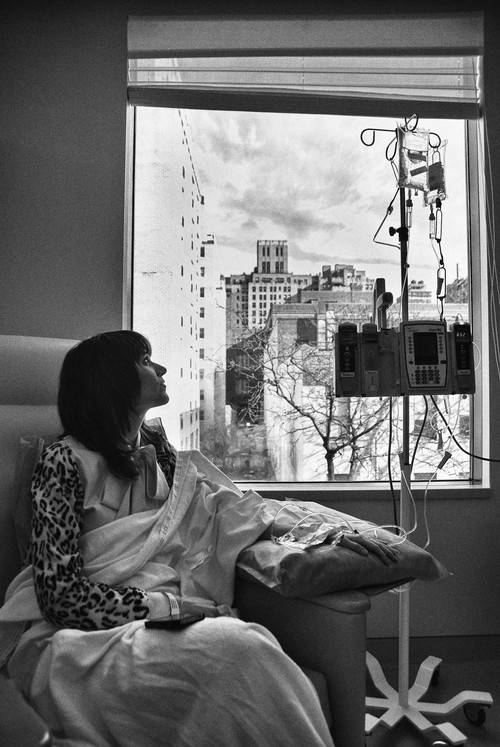 Jen looking up at chemotherapy
