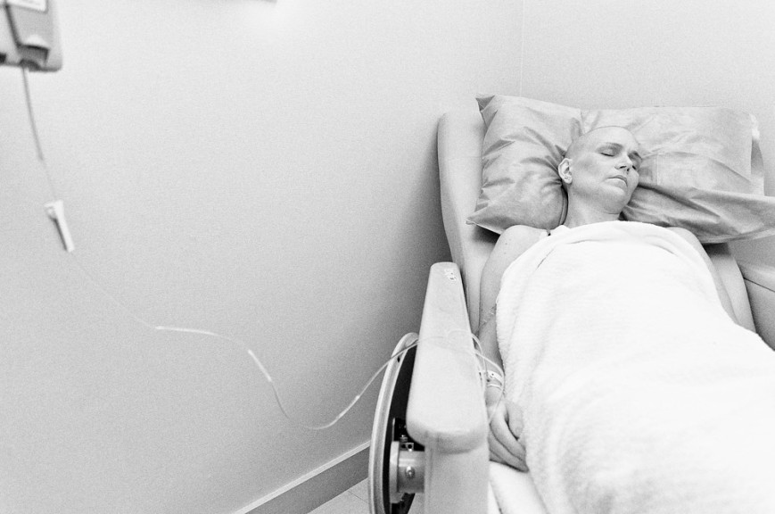 Jen receiving chemotherapy Sleeping 1