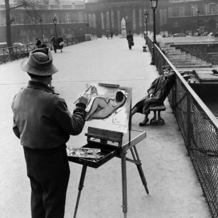 Robert Doisneau - Le peintre du Pont des Arts 1953