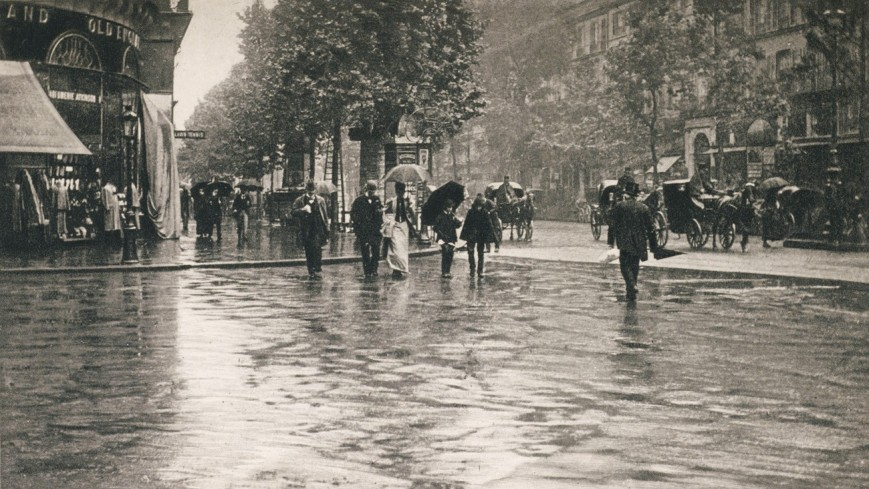 Alfred Stieglitz - Wet day on the boulevard - 1894