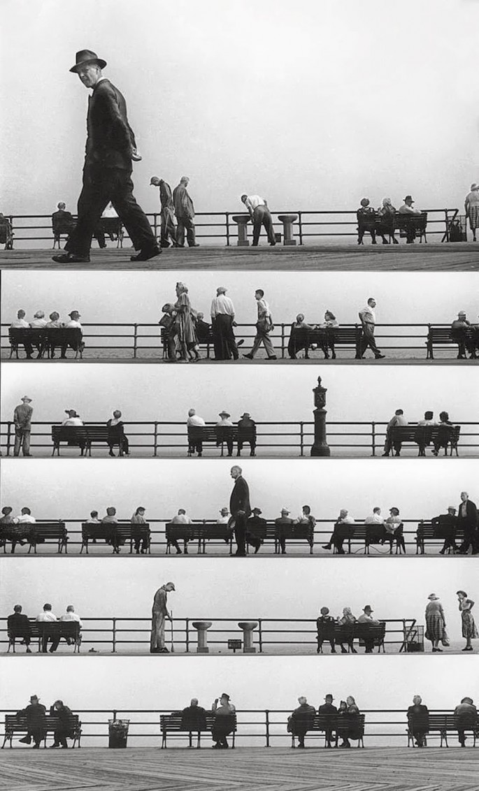 Harold Feinstein - Sheet Music Montage - Coney-Island - 1950