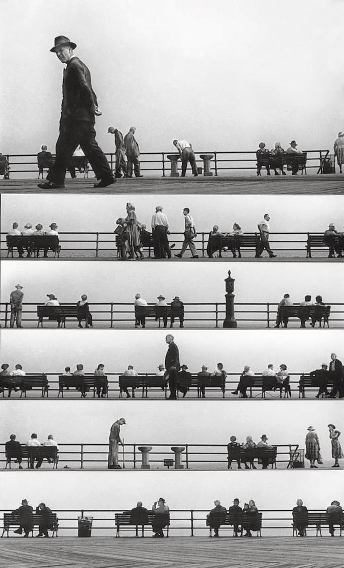 Harold Feinstein - Sheet Music Montage - Coney-Island - 1950