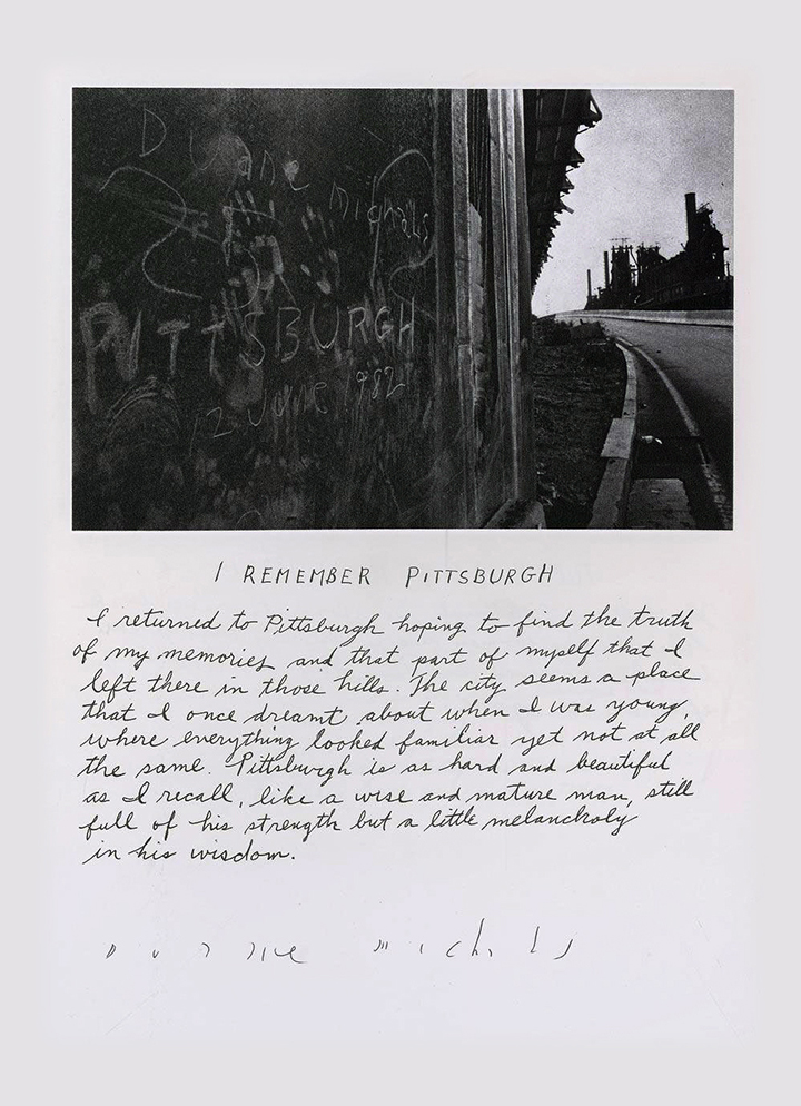 Duane Michals - I remember Pittsburgh