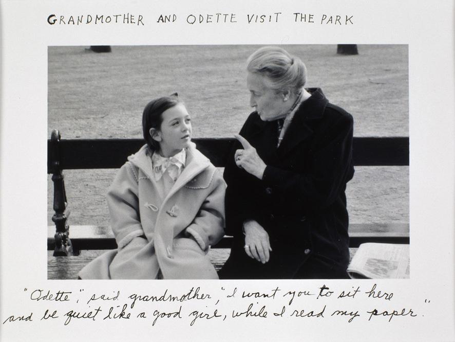 Grandmother and Odette visit the park - 1