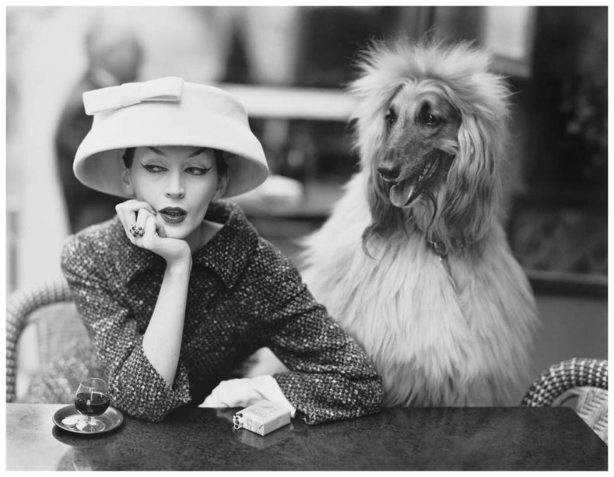 Richard Avedon - Cafe des deux magots - Paris - 1955