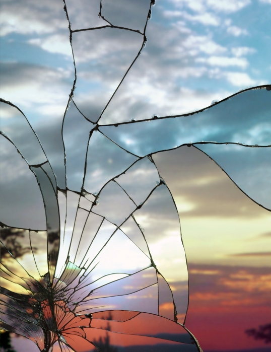 Broken Mirror_Evening Sky (Ektachrome)