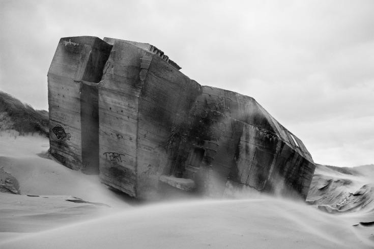 atlantic wall berck plage, france december 2013
