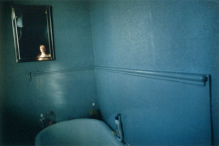 Nan Goldin - Blue Bathroom SelfPortrait - London - 1980