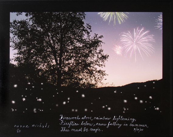 Fireworks above - Rainbow Lightening - 2005
