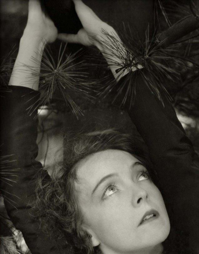 edward-steichen-lillian-gish-with-hands-over-her-head-surrounded-by-pine-tree-november-1934