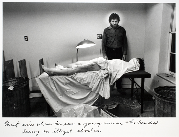 Duane Michals - Christ in NY 2 - 1984