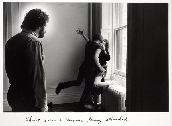 Duane Michals - Christ in NY 5 - 1984