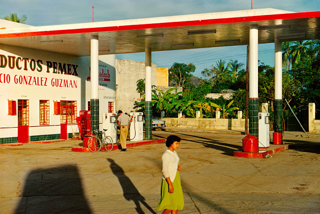 Gas Station, Mazatlan, Mexico, c. 1952