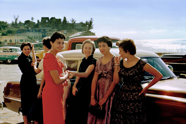 3. Women by Car, Laguna Beach, c. 1950