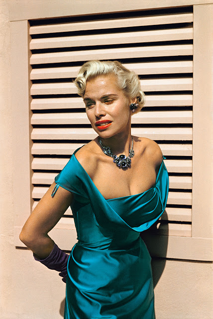 Woman with Turquoise Dress, Laguna Beach, California, c. 1952