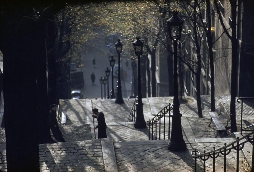 ernst-haas-montmartre-steps-paris-1954